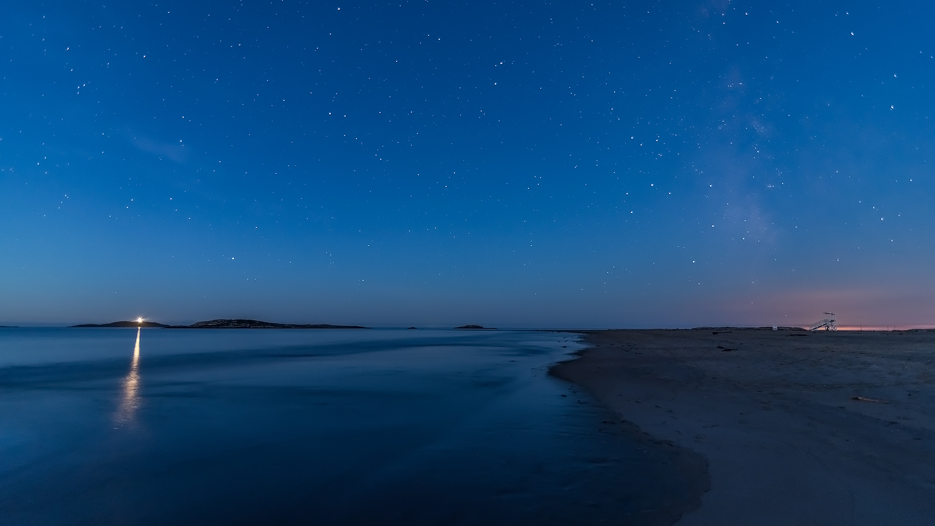 night sky at popham beach | maine landscape and seascape